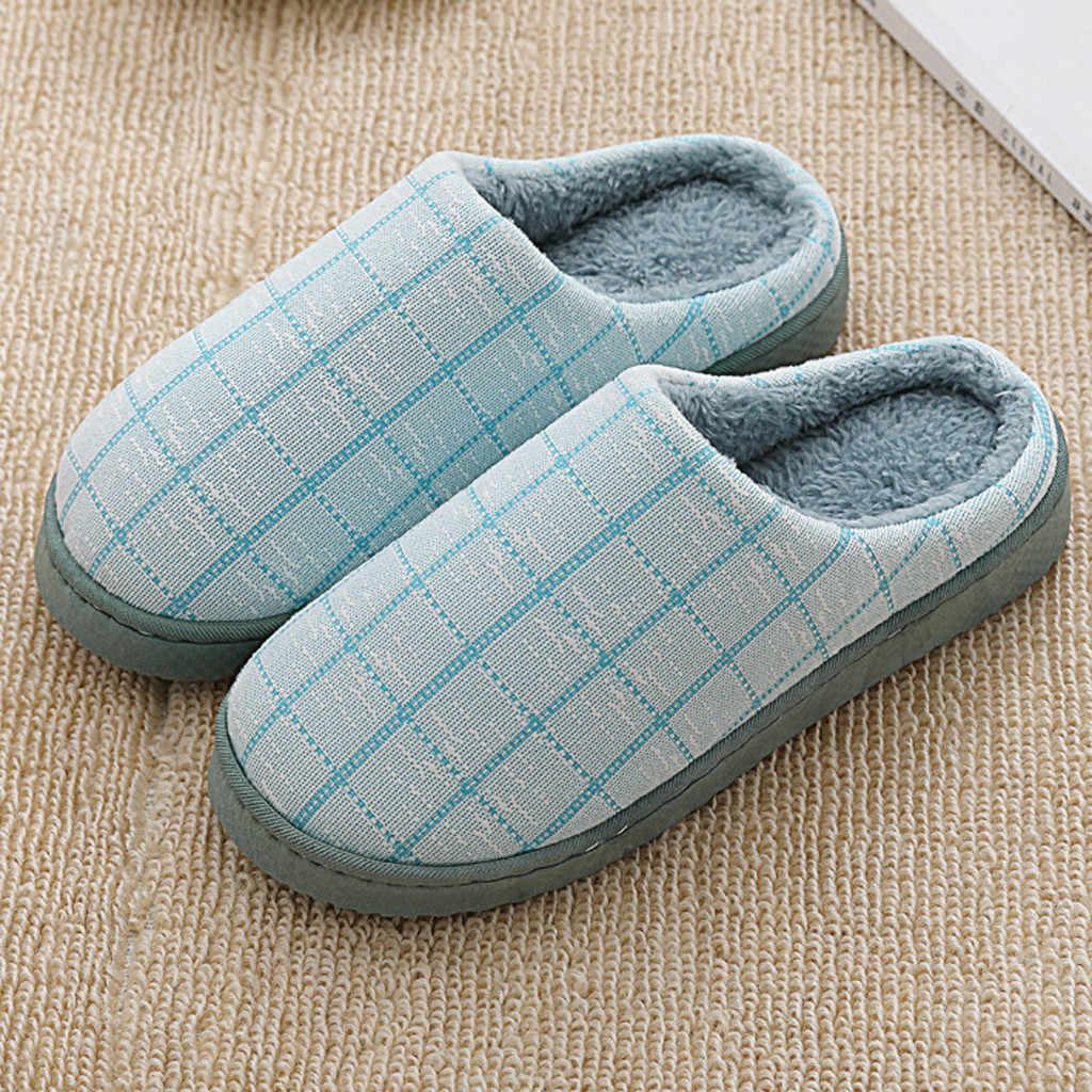 Soft Plush Plaid Home Slippers Women Shoes Non-slip Flats Indoor Slipper Woman High Quality Large Size Slipper Kapcie Тапки 2019
