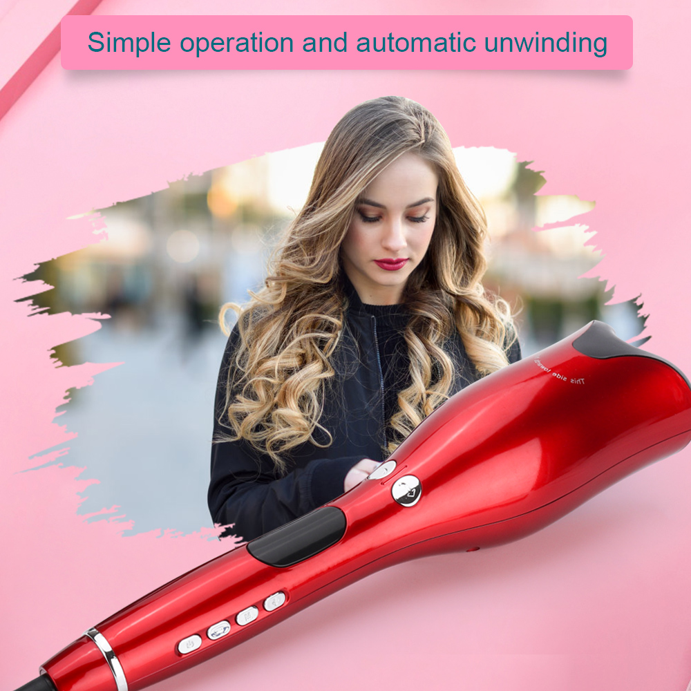 Automatic Curling Iron Waver Curler Wand Curl Rotating Electric Hair Curling Iron Air Spin Auto Hair Curly Styling Tool 1 inch(China)