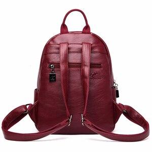 Image 4 - 2020 女性のバックパック革女性旅行 Bagpack 女性嚢 A ドス少女プレッピースタイル大容量バックパック