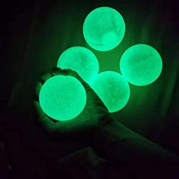 Stick Wall Ball Catch Throw Glow In The Dark Toys for Children Mini Luminous Stick Juggle Jump Wall Ball Games Sticky Squash image