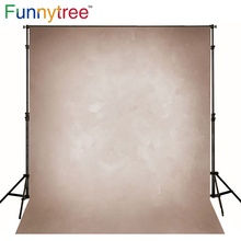 Funnytree Vinyl cloth photography backdrop old master light brown pure solid color background photo studio photobooth photophone