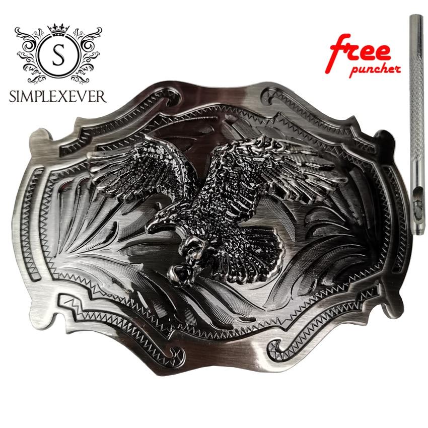 Antique Leaf Pattern American Vintage Boucle de ceinture West Cowboy Hommes