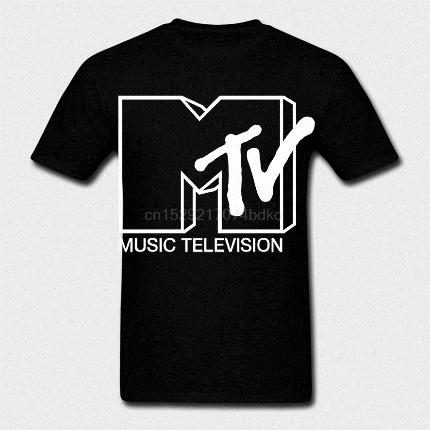Retro MTV T-SHIRT Emo Indie music NEW 80s 90s style - rock hip hop(China)