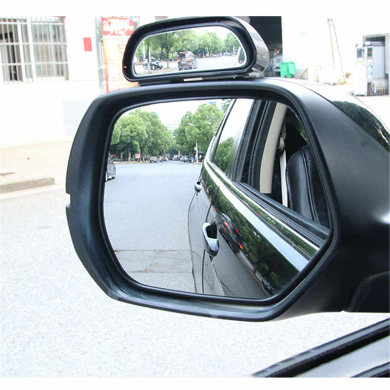 Car Blind Spot Mirrors Wide Angle Rear View Side Assist Mirror A Pillar Mount