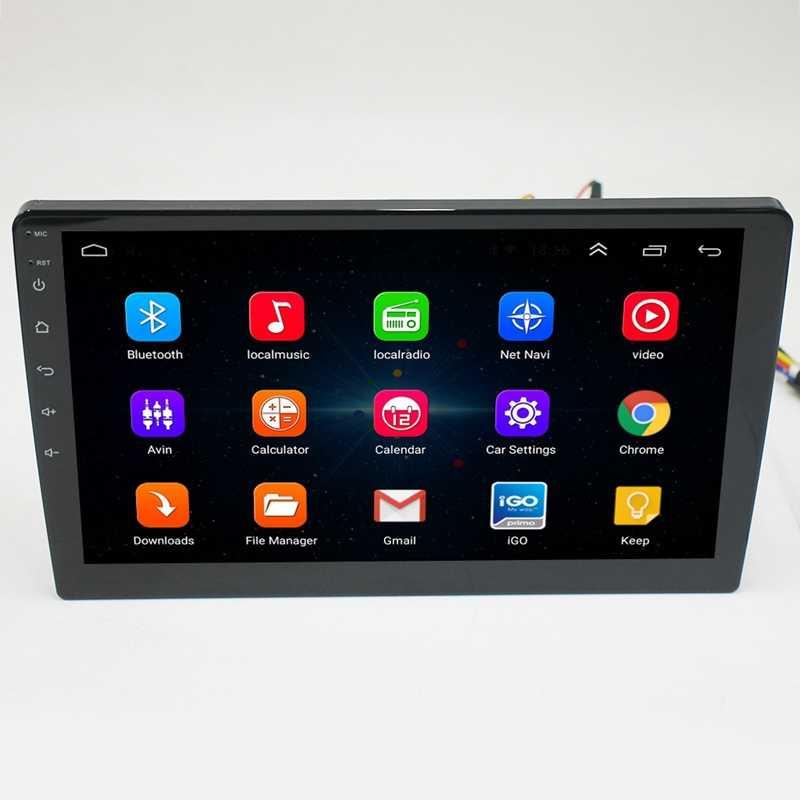 9 дюймов Android 8,1 универсальный автомобильный Радио 2Din Автомобиль Радио Dvd плеер с Gps навигацией, Wi-Fi, Bluetooth Mp5 плеер сзади с задней выстрел