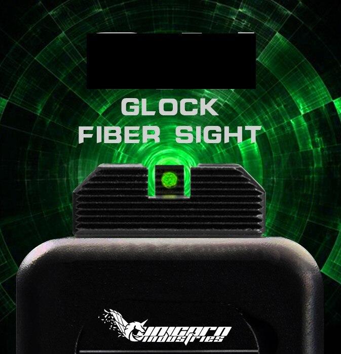 TM GLOCK Fiber Sight Glock 17 Unicorn Industries Airsoft / Gel Blaster Can Fit Kublai P1