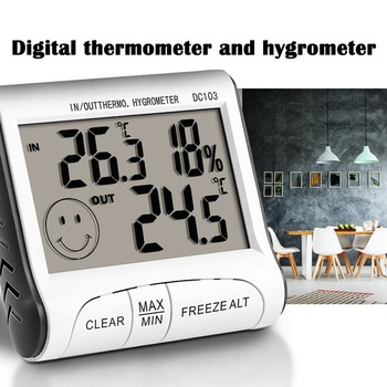 Strong Magnet Digital Humidity Display Hygrometer Thermometer Indoor Outdoor Temperature Humidity Monitor With Probe image