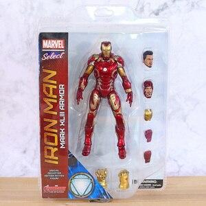 Image 1 - Figuras de acción de Marvel Select, Iron Man, MK43, Mark XLIII, muñecos de juguete, Brinquedos, modelo regalo de colección