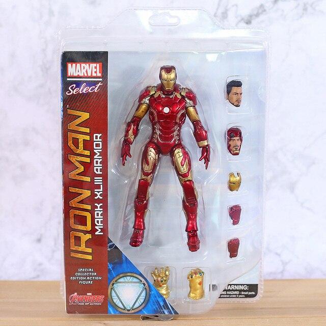 Figuras de acción de Marvel Select, Iron Man, MK43, Mark XLIII, muñecos de juguete, Brinquedos, modelo regalo de colección