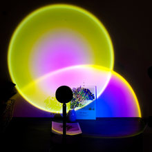 Led veilleuse USB arc-en-ciel projecteur coucher de soleil veilleuses café boutique Bar décoration lampe chambre atmosphère lumière 2021 nouveau cadeau