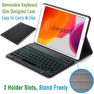 Image 4 - Чехол с клавиатурой для iPad 10,2, 7 цветов, с подсветкой, 3,0, Bluetooth, чехол для Apple iPad 7, 7 го поколения, A2200, A2198, A2197
