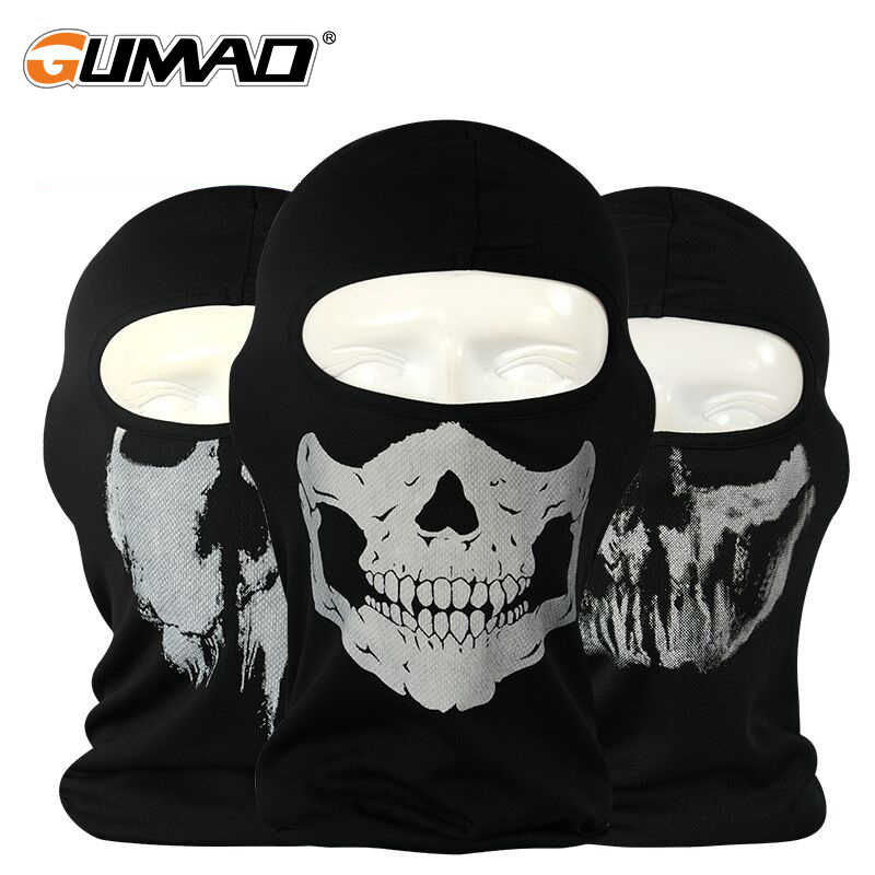 Outdoor Skull Balaclava Full Face Mask Bicycle Cycling Ski Bike Ride Snowboard Tactical Helmet Liner Warm Military Airsoft Hat
