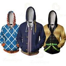 Аниме на молнии свитер с капюшоном Костюмы для косплея joestar