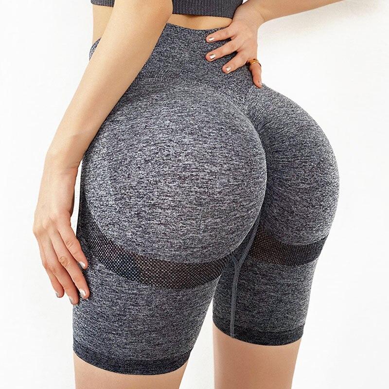 NCLAGEN High Waist Yogaings GYMs Biker Legging Seamless Nylon Active Work Out Capris Squat Proof Butt Lift Women Home Shorts