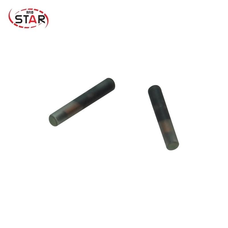 40pcs RFID 134.2KHz EM4305 1.4*8mm FDX-B Animal Rfid Glass Capsule Dog Tag Animal Microchip