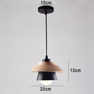 Image 2 - Nordic Decor Pendant Lights Suspension Luminaire, E27 Aluminum Wood Pendant Lamp Modern Light Fixtures Black White