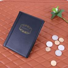 120 bolsos pvc mini moedas álbum coleção livro penny comemorativa moeda de armazenamento álbum livro titular moeda colecionador presentes
