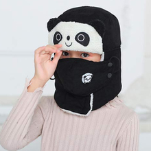 Children's winter warm hat cute panda earmuff bomber