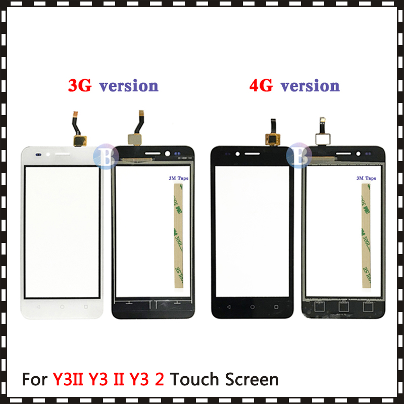 4.5'' For Huawei Y3II Y3 II Y3 2 3G 4G LUA-U03 LUA-L03 LUA-U23 LUA-L13 LUA-L21 Touch Screen Digitizer Sensor Outer Glass Panel