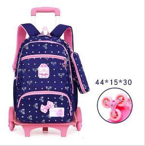 Image 5 - Sac à dos à roulettes pour enfants, sac à dos à roulettes pour les écoliers, sac de voyage à roulettes
