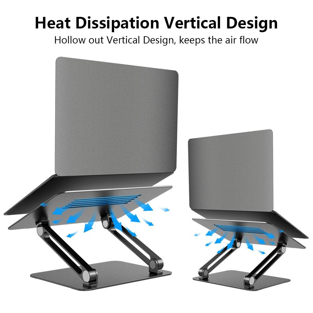 Laptop Stand Aluminium Alloy Adjustable Nillkin Laptop Holder Multi Angle Stand Heat Release Foldable Laptop Notebook