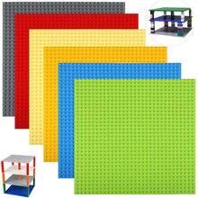 Duplo-face 32*32 pontos placa de base empilhável para tijolos pequenos diy blocos de construção placa base compatível clássico bloco brinquedo do miúdo