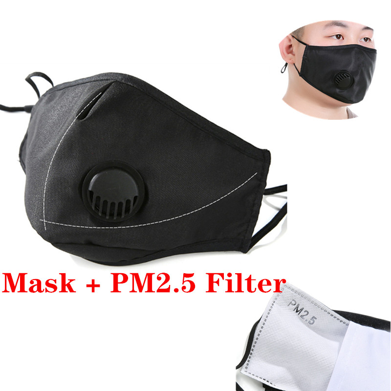 Cotton PM2.5 Mouth Fack Mask Anti Haze Anti-dust Mask Activated Carbon Filter Respirator Bacteria Proof Flu Gasket For KN95 Kf94