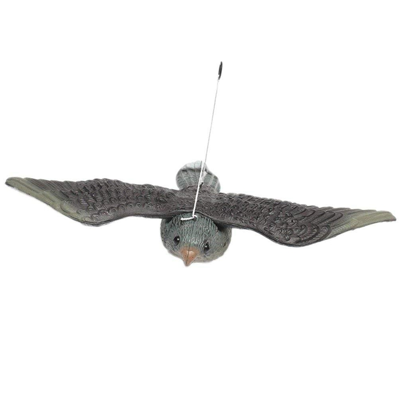 Flying Hawk Decoy Bird Deterrent, Lifelike And Realistic With Hanging Strings, Full Bodied Pest Control Garden Hunting And Bird