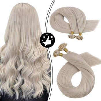 """U Tip przedłużanie włosów ludzkie włosy keratyna włosy #1000 biała blondynka Hot Fusion 100 naturalna maszyna do włosów ludzkich Remy tipsy tanie i dobre opinie MORESOO CN (pochodzenie) Proste Do paznokci Końcówka w kształcie litery """"U"""" Remy maszynowe Matowe Brazylijskie włosy"""