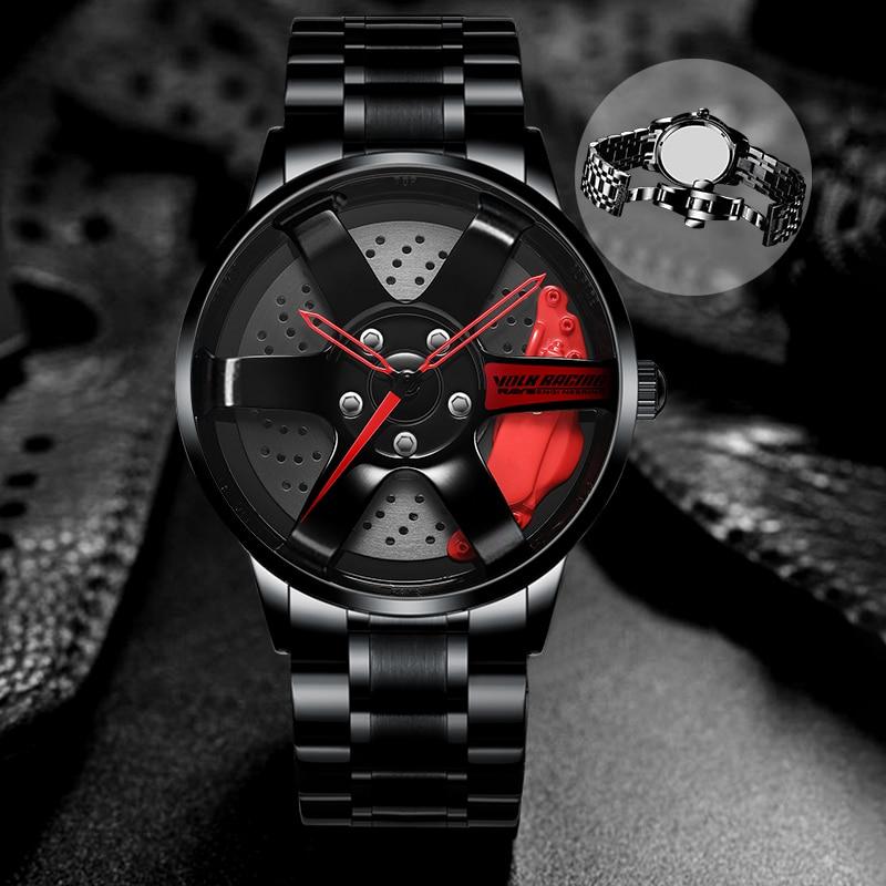 Men Watch NIBOSI Wheel Rim Hub TE37 Watch Custom Design Sport Car Rim Watches Waterproof Creative Watch Men Relogio Masculino