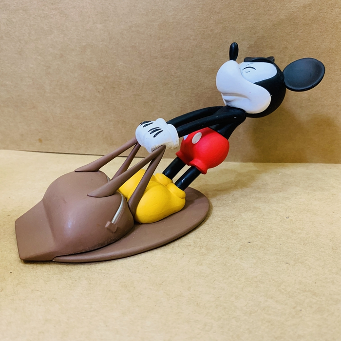 Original Garage Kid 19cm Action Figure Mickey Mouse Pulling Base Doll Loose Toy Figure Model Collectible Model Toy Gifts