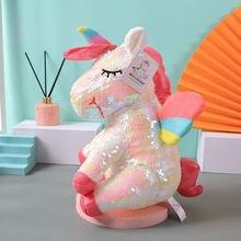 Популярный плюшевый игрушечный подушка безопасности кукла единорога