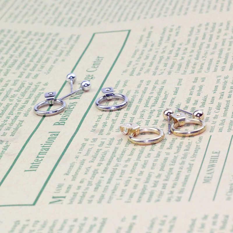 CARTER LISA Mode schmuck Gold/Silber Nette gold Farbe Geometrische Kleine Kreis Metall Stud Ohrringe Beste Geschenk Für Frauen mädchen