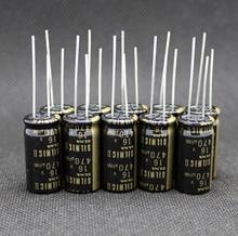 6PCS NEW THAILAND ELNA SILMIC II RFS 16V470UF 12.5x25mm Electrolytic capacitor SILMICII 470UF 16V hot sale 470uf/16v