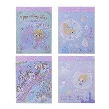 A sereia princesa castelo fada donzela unicornio dos desenhos animados diy capa macia mini caderno diário bloco de notas presente