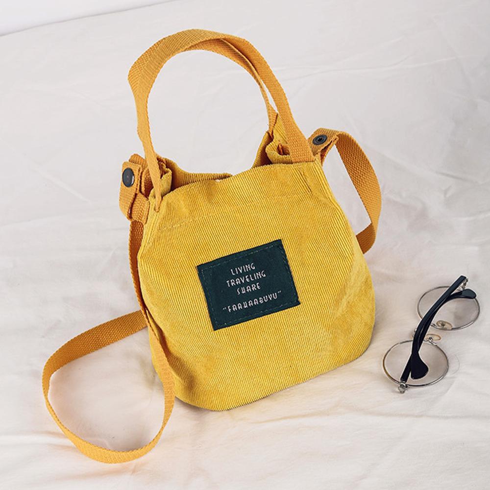 Women Small Soft Corduroy Shoulder Shopping Bag Tote Package Crossbody Bags Satchel Handbag Travel Large Messenger Bag