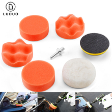 "Buy LUDUO 7pcs 3"" Car Polisher Polishing Pad Set Polish Sponge Wheel Buffer Waxing for Headlight Polish M10 Paint Care Accessories directly from merchant!"