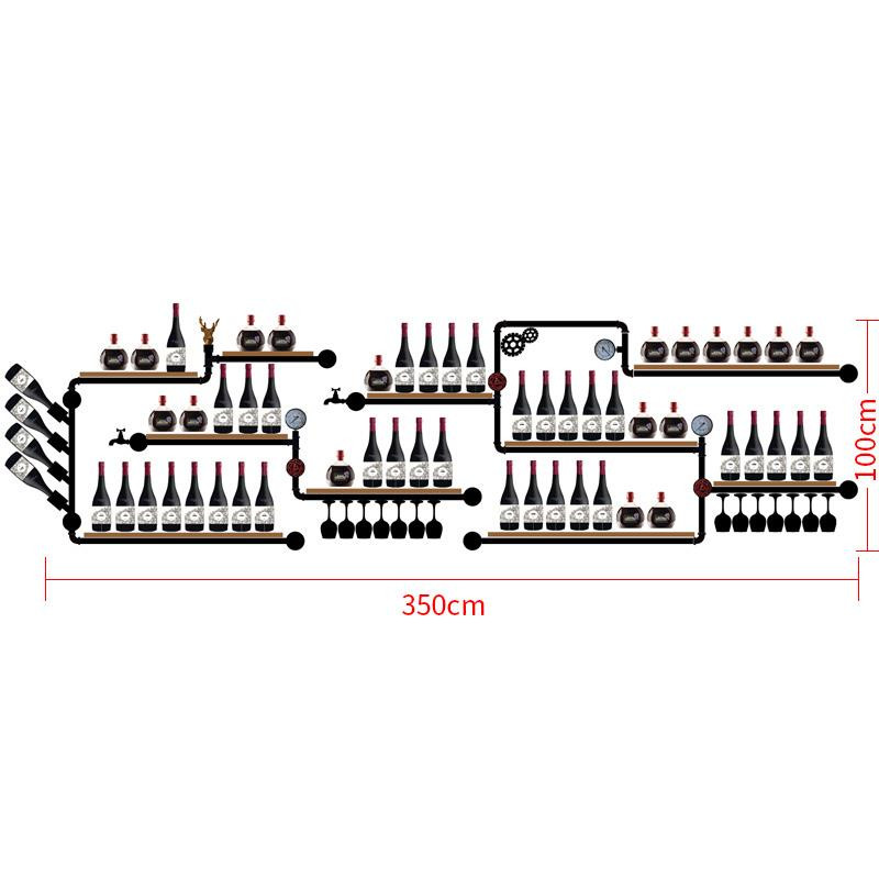 Modern Iron Wall-mounted Wine Holder Iron Art Wine Support Cabinet Flat/Tilted Types 1-16 Bottle Simple Hanging Wine Rack Holder