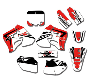 Free Customized Motorcycle Graphics Stickers Sticker Kit Decal For Honda CRF125 1995 - 1997 CR250 1995 1996 CRF 125 CR 250