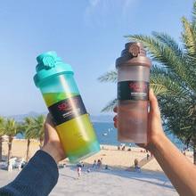 700ml Plastic sport water bottle juice bottle  protein powder shaker bottle with mixing ball контейнер rosenberg 700ml rgl 230141