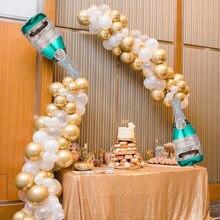 Butelka do szampana balon Garland różowe złoto łuk zestaw urodziny ślub Graduation wieczór panieński tło imprezowe 2021 dekoracje