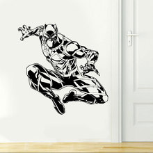 ROWNOCEAN The Avengers Black Panther Wall Stickers Home Decor Living Room Vinyl Art Decals On Kids Bedroom K-6