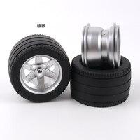 2-4 pces decool técnica carro caminhão f1 roda 81.8x50mm pneu + 62x46mm roda compatível 32296 22969 blocos de tijolos moc peças brinquedos