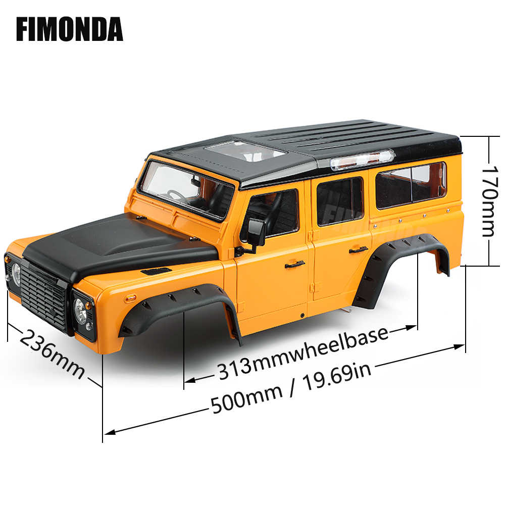 1:10 Scale Complete Defender D110 Hard Body Kit 313Mmฐานล้อสำหรับ 1/10 RC Crawler Traxxas TRX4 Axial SCX10 ABSiMA CR3.4 Sherpa