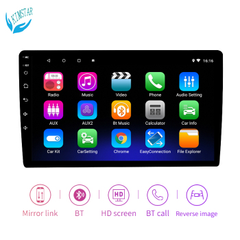 Car Stereo Music Bluetooth Android MP5 Player 9 Inch HD with GPS Universal Radio FM image