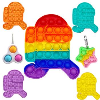 Kreatywny Fidges zabawka spinner zestaw Pop It poput prezent Pop It poput prezent Pop Fidget Reliever stres zabawki silikonowe zabawki antystresowe tanie i dobre opinie CN (pochodzenie) 13-24m 25-36m 4-6y 7-12y 12 + y Squeeze Toys Zwierzęta i Natura Do jazdy Fantasy i sci-fi Zawody Sport