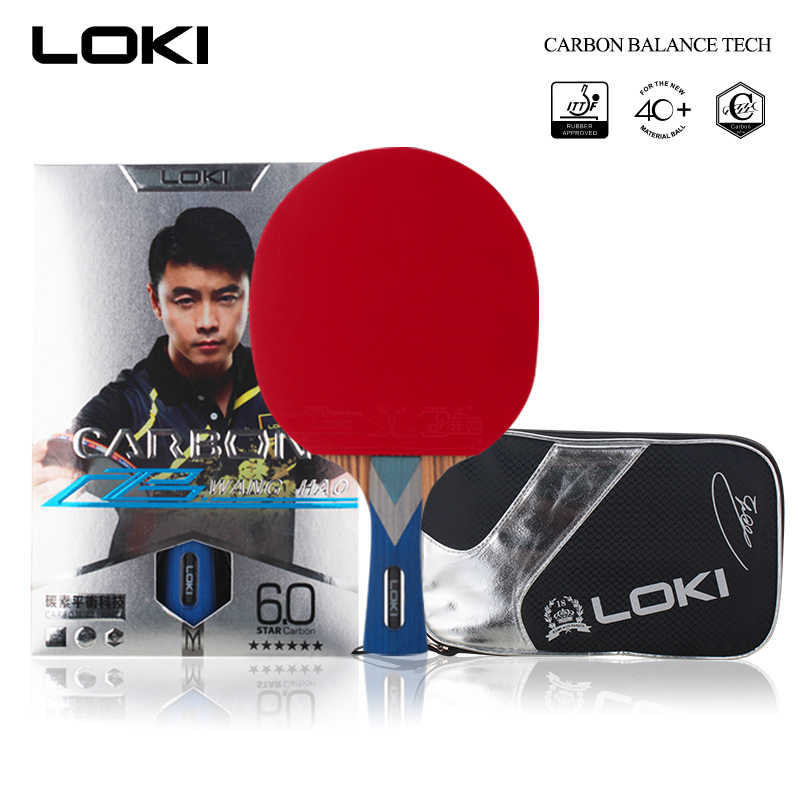 LOKI 6 Star Professional Table Tennis Racket Carbon Blade PingPong Bat Competition Ping Pong Paddle for Fast Attack and Arc