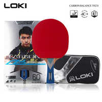 LOKI 6 Star Professionale Tennis Da Tavolo Racchetta di Carbonio Lama PingPong Bat Concorrenza Ping Pong Paddle per Attacco Veloce e Ad Arco