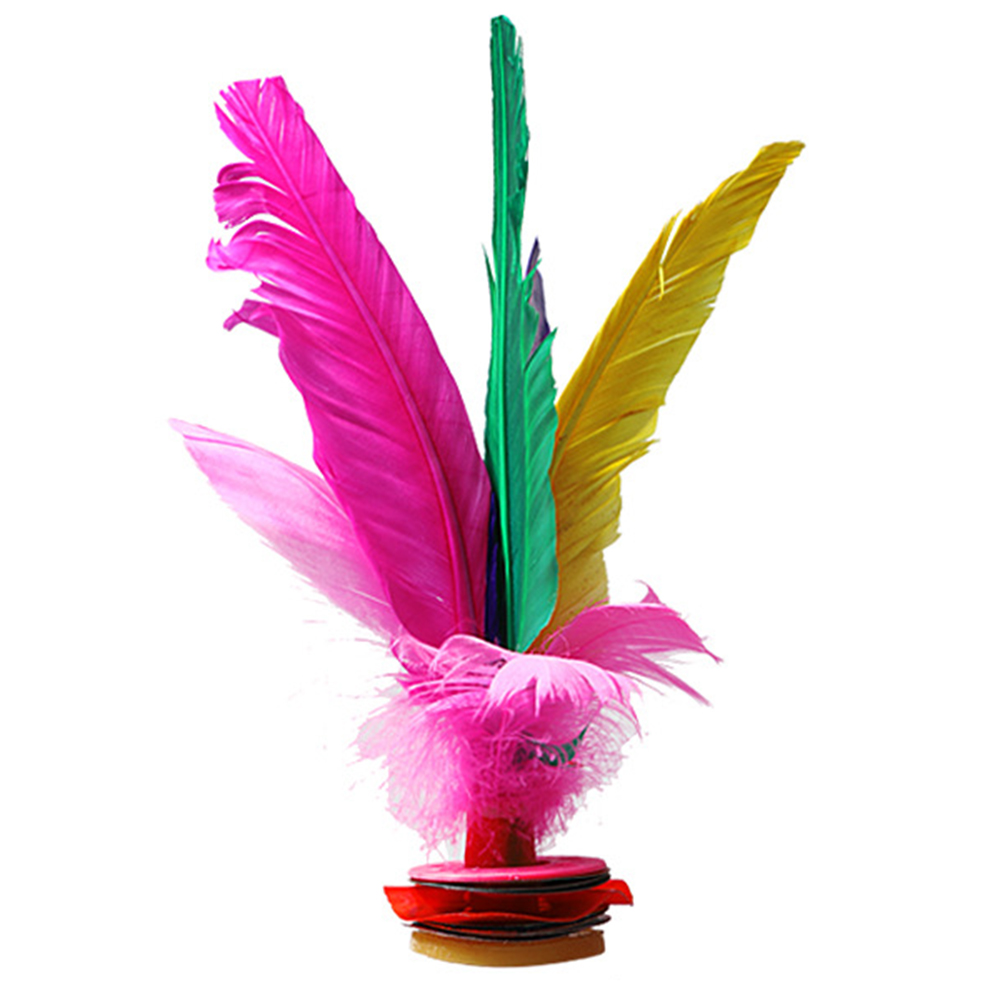 1Pc Colorful Chinese Jianzi Feather Kicking Shuttlecocks Foot Exercise Sports Game For Children Adults Traditional Sport Toy