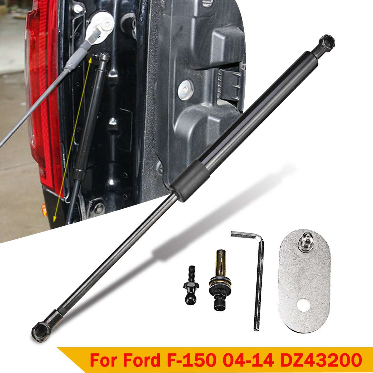Arka bagaj kapısı hidrolik çubuk şok kaldırma Struts destek kolu çubukları DZ43200 Ford F150 2004 2005 2006 2007 2008 2009-2014